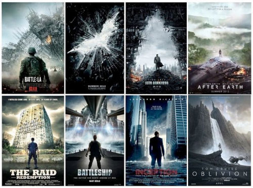 Creative Action Movie Posters