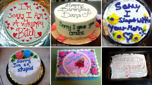 KYM Gallery: Apology Cakes