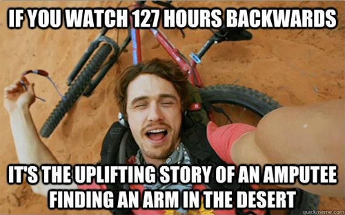 127 Hours in Reverse Chronology