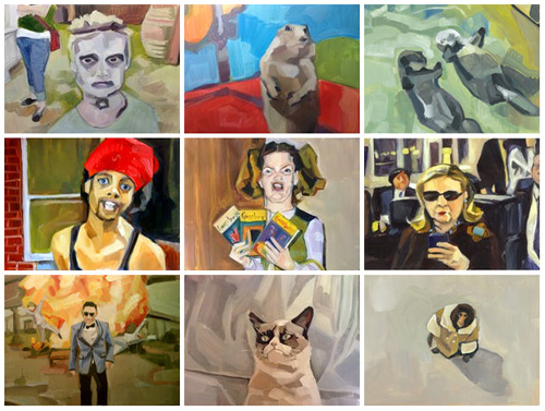 Lauren Kaelin's Meme Paintings