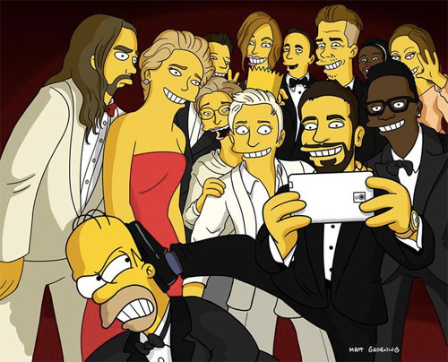 Ellen's Oscar Selfie: Simpsons Edition