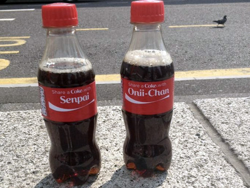 Share a Coke with Senpai & Onii-chan