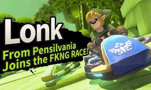 Lonk Joins the Race Roster in Mario Kart 8!