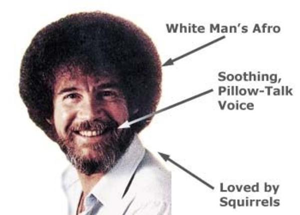 Bob Ross Black And White Painting Meme