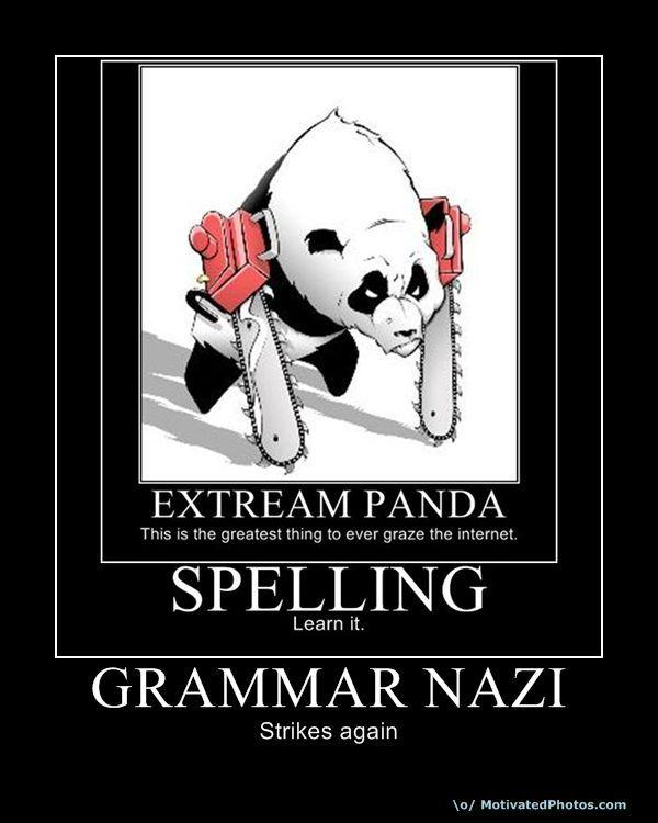 Extream panda grammar nazi know your meme thecheapjerseys Images