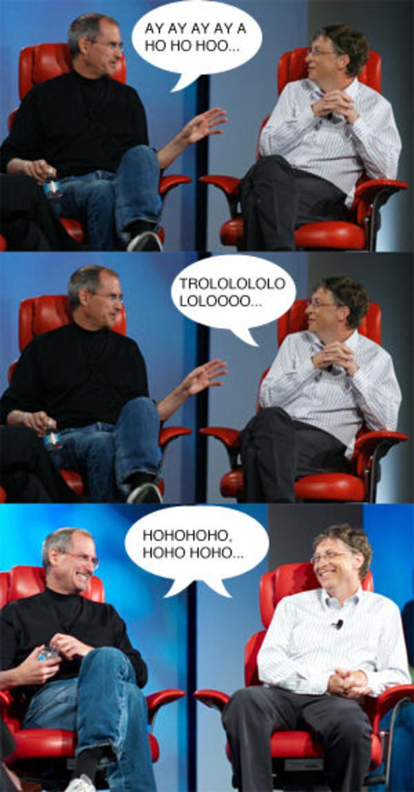 jobsvsgates_trollolo steve jobs vs bill gates image gallery (sorted by favorites,Bill Gate Meme