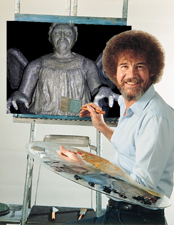 Bob_Ross_Paints_A_Weeping_Angel bob ross know your meme