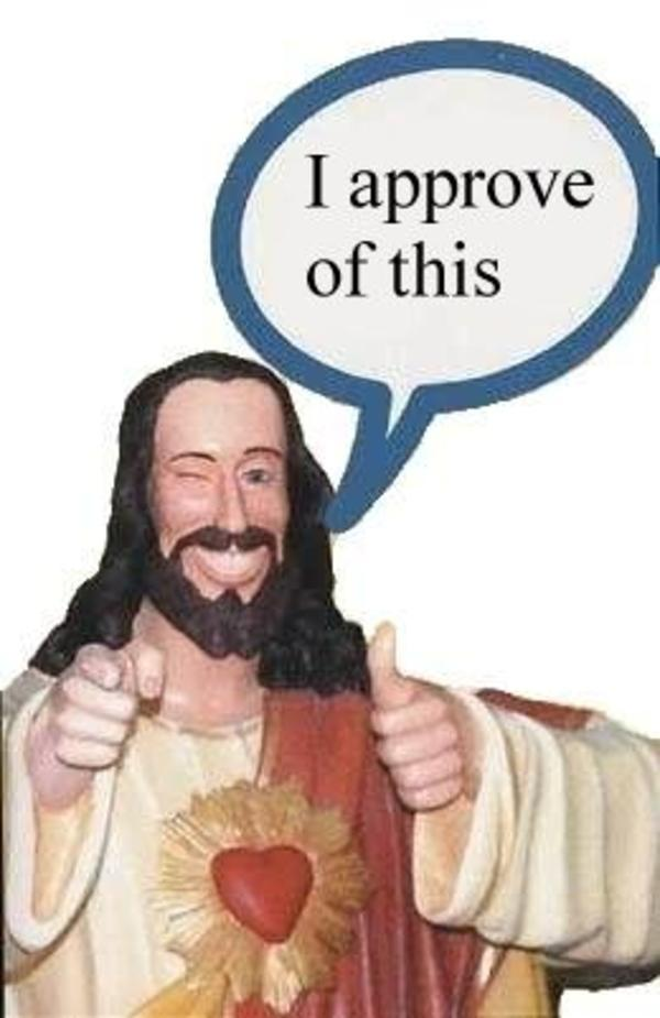 2VLDADFOGDMIWF7YI7UGQR4FTZ3TJYN3 buddy christ image gallery (sorted by favorites) know your meme,Buddy Jesus Meme