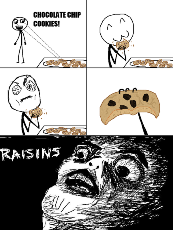 Raisins oh crap omg rage face know your meme