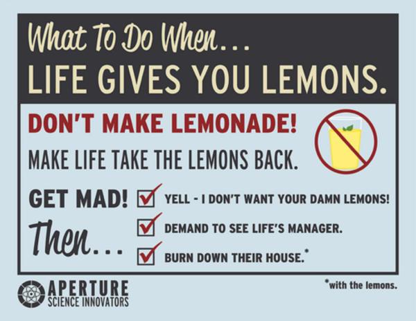 Afbeeldingsresultaat voor dont make lemonade