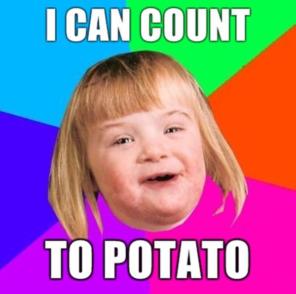 I can count to potato i can count to potato know your meme