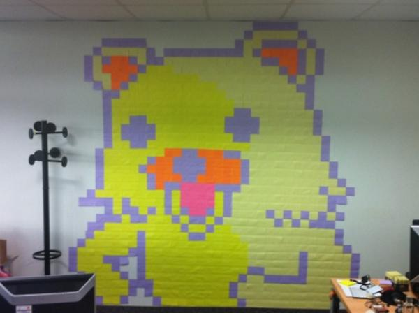 tumblr_lqum3n5DIM1r13v3wo1_500 know your meme a pedobear made entirely of post it notes who