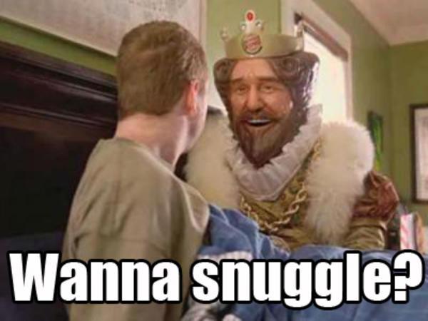 burgerking theking_snuggle the burger king know your meme