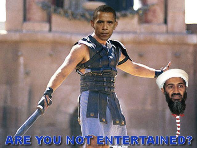 osama image 219262] are you not entertained? know your meme
