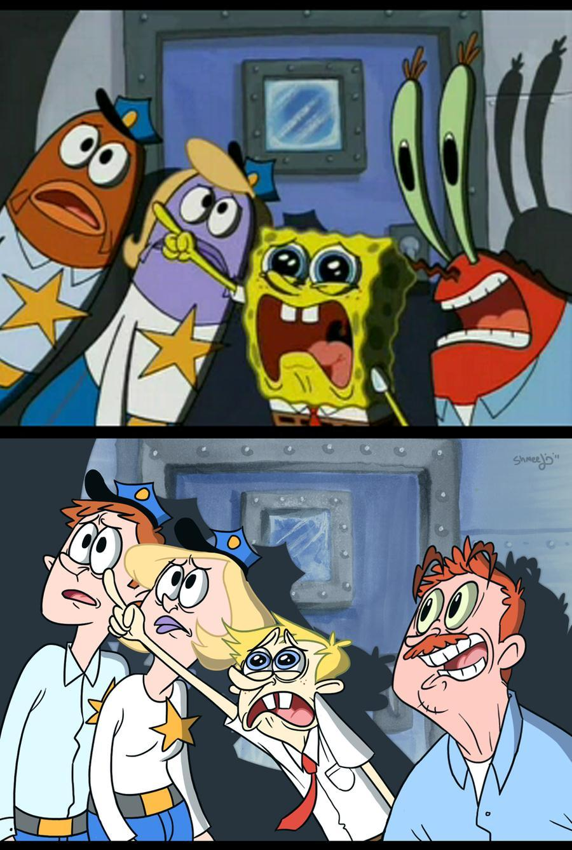 humanized spongebob and mister krabs spongebob squarepants