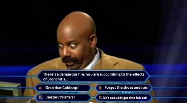 Funny Game Show Meme : Who wants to be a millionaire sweet brown s cold pop