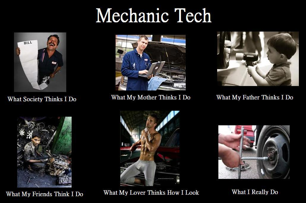 Mechanic Technician What People Think I Do What I