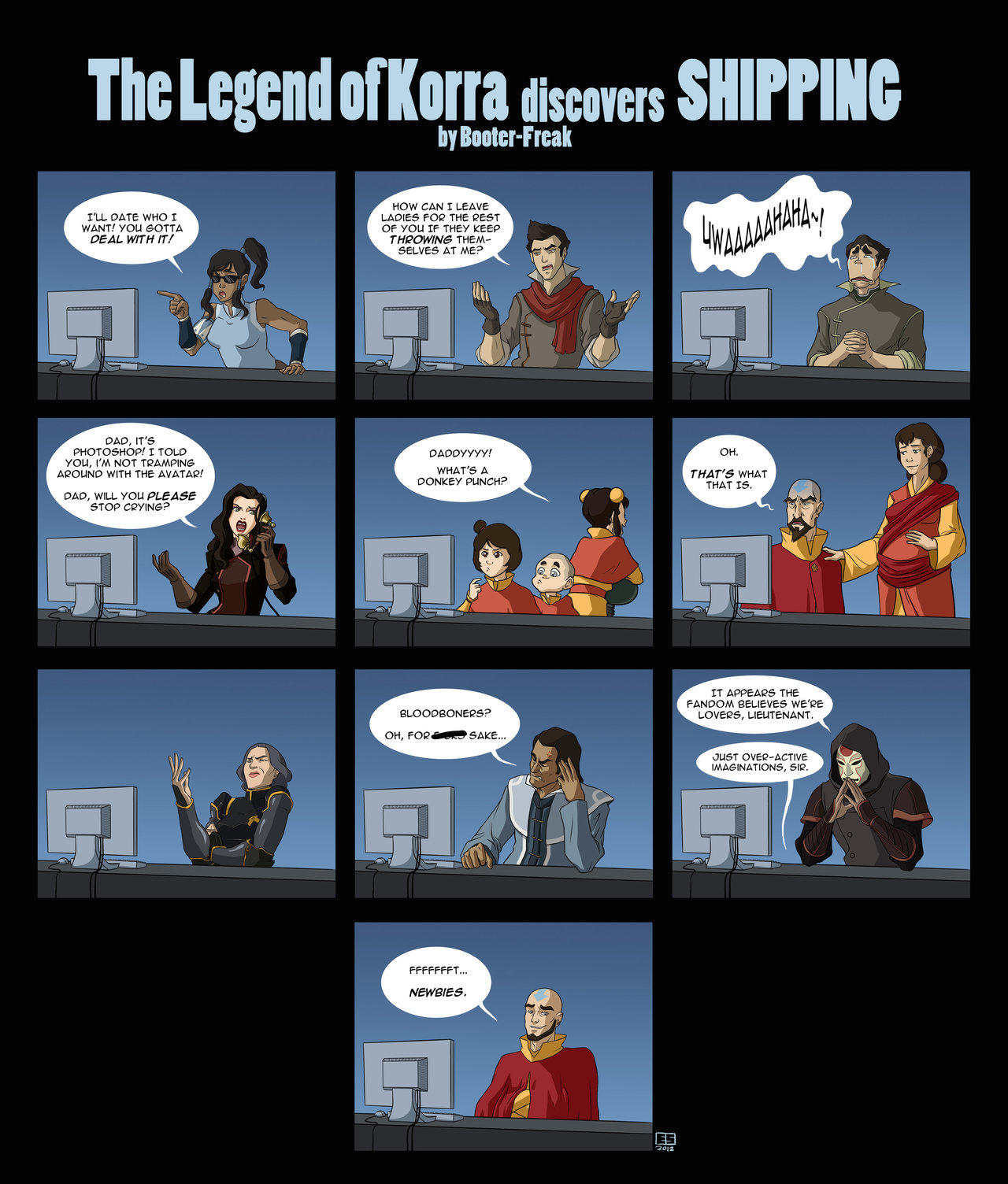 The Legend of Korra discovers shipping   Avatar: The Last ...