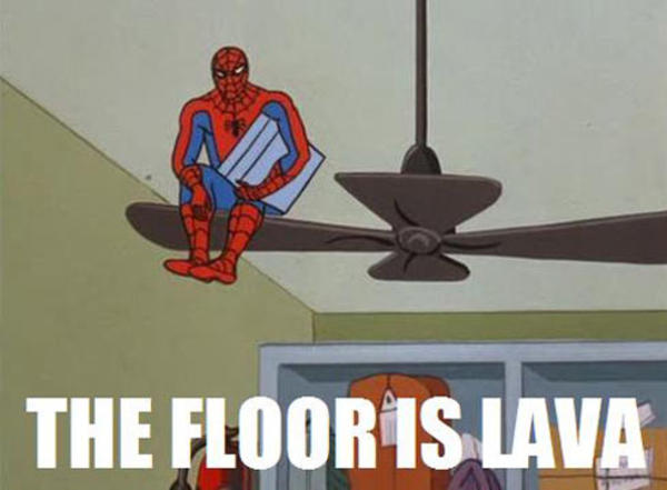 Image result for the floor is lava meme