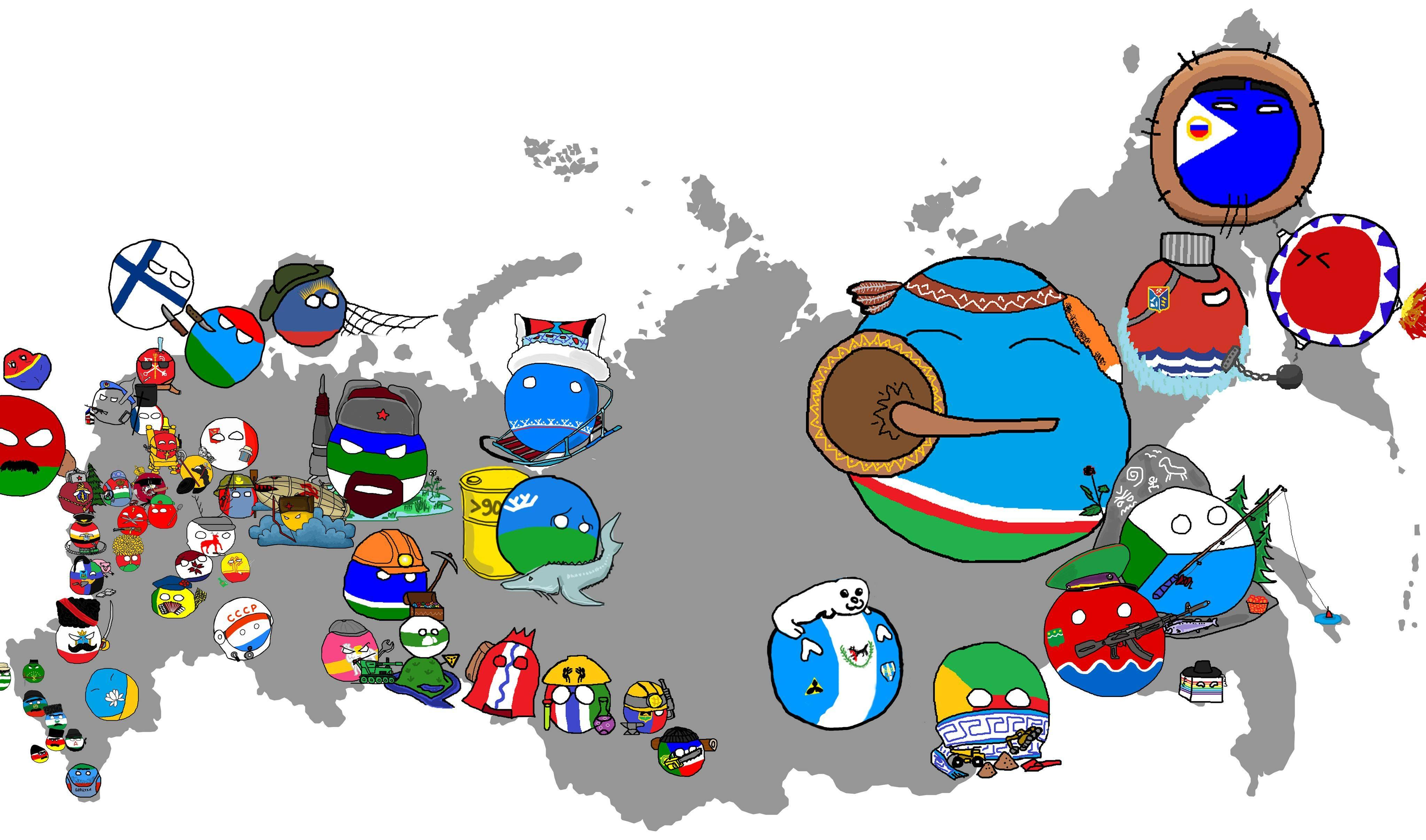 Map of Russia | Polandball | Know Your Meme