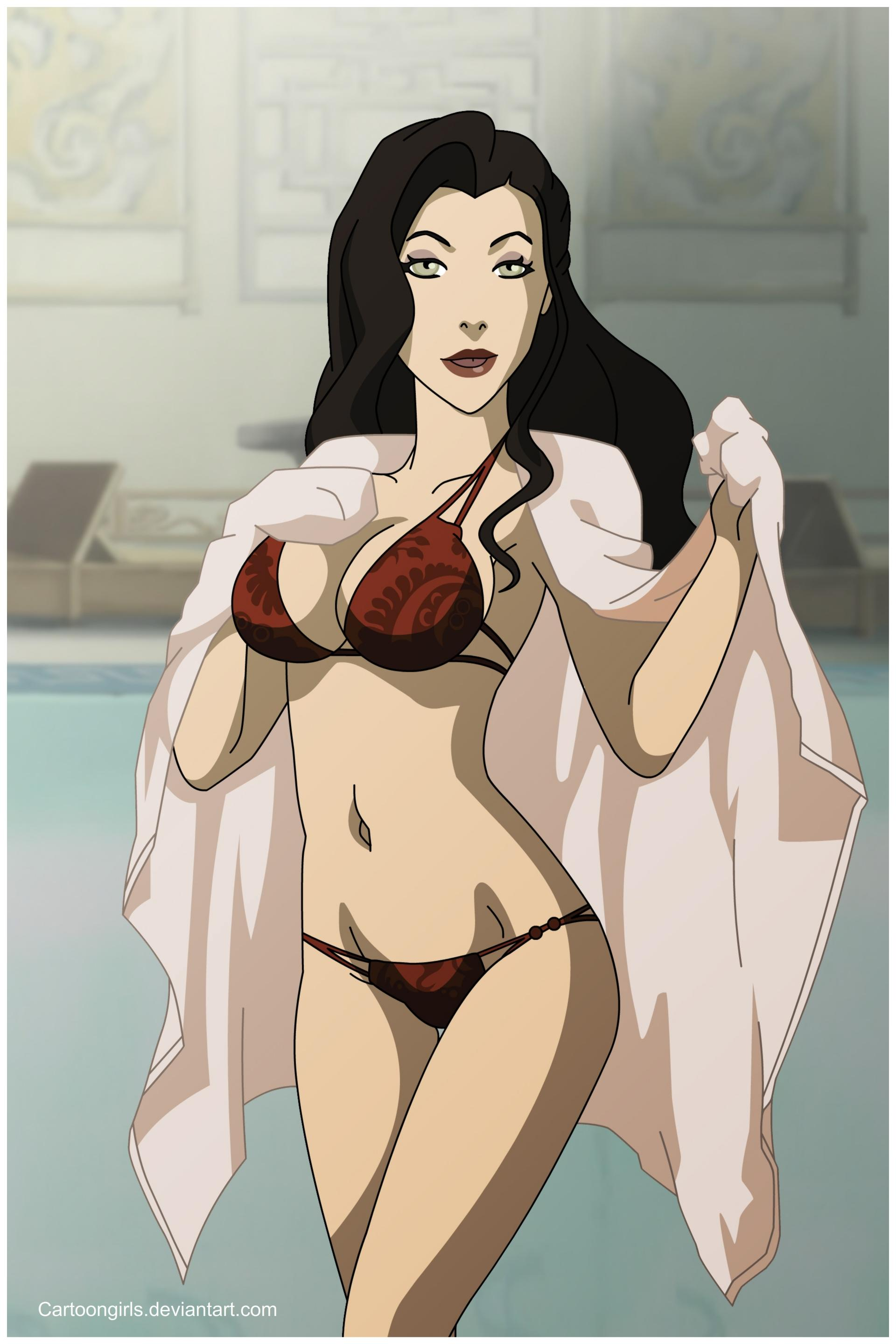 Asami at the pool   Avatar: The Last Airbender / The