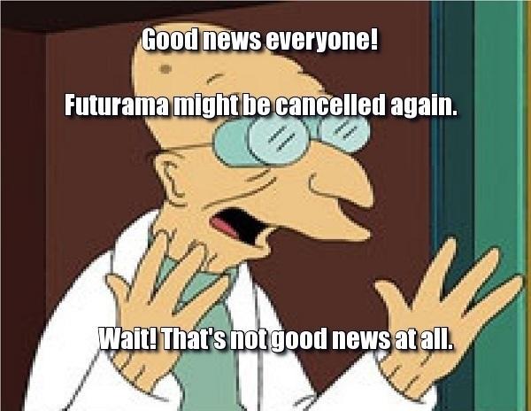 983 good news everyone! futurama might be cancelled again futurama,Good News Everyone Meme