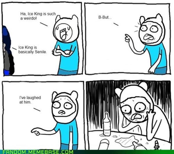 ee6 depressed finn adventure time know your meme,Meme Depressed Guy