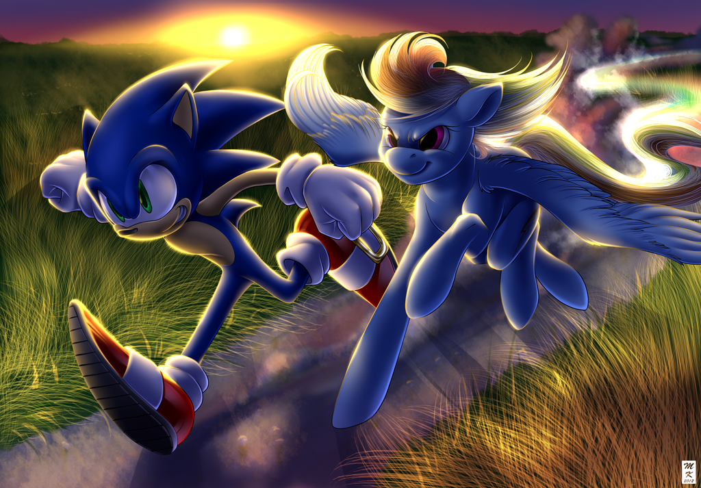 Rainbow Dash Png Sonic vs Rainbow Dash ...