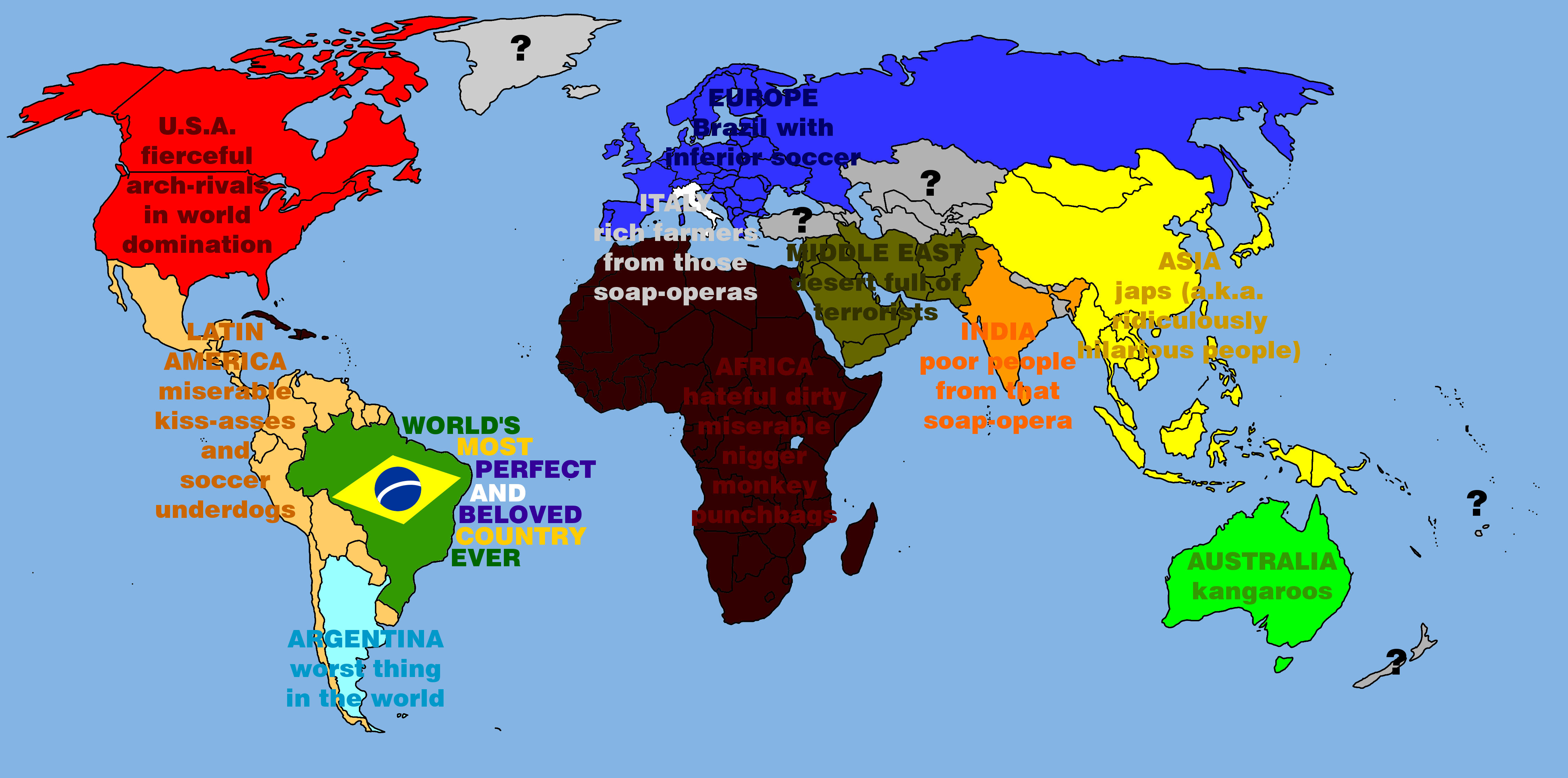 The World According to Brazil The World According To Know Your Meme