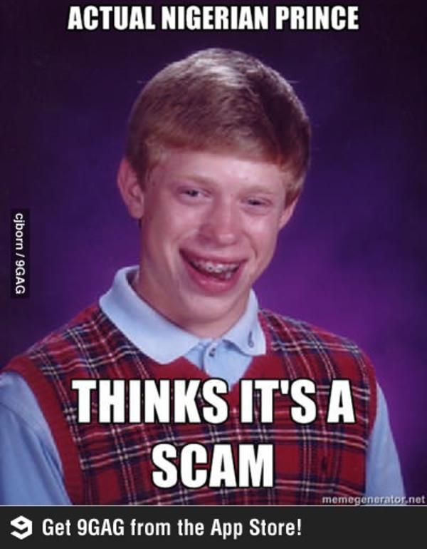 Best Memes of All Time: Funniest and Most Popular Memes ...  Craigslist Nigerian Scam Meme