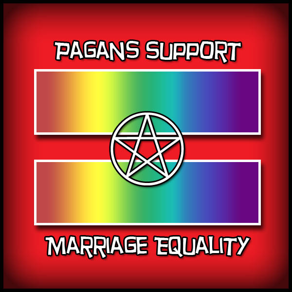 Pagans Support Marriage Equality Red Equal Sign Know Your Meme