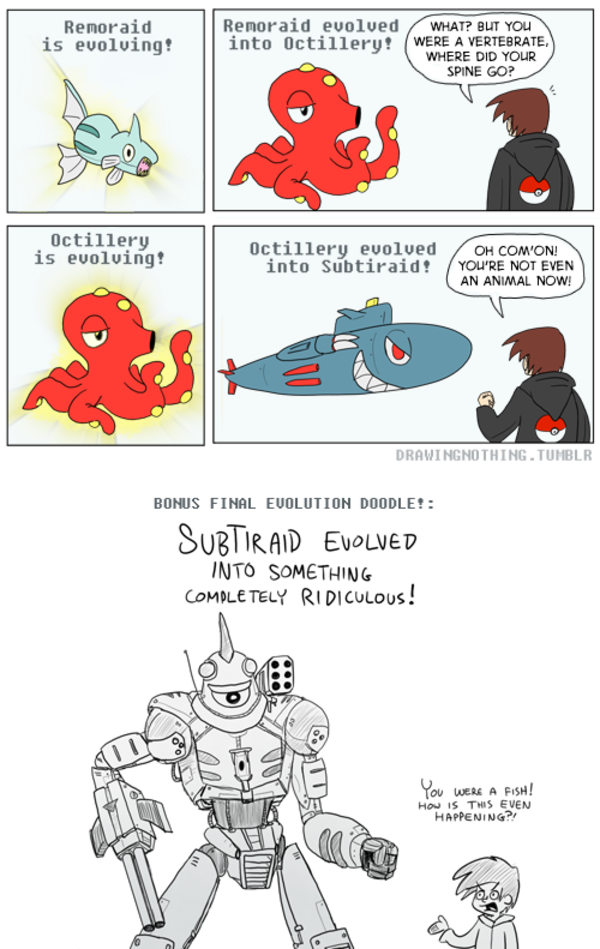 Remoraid Evolution