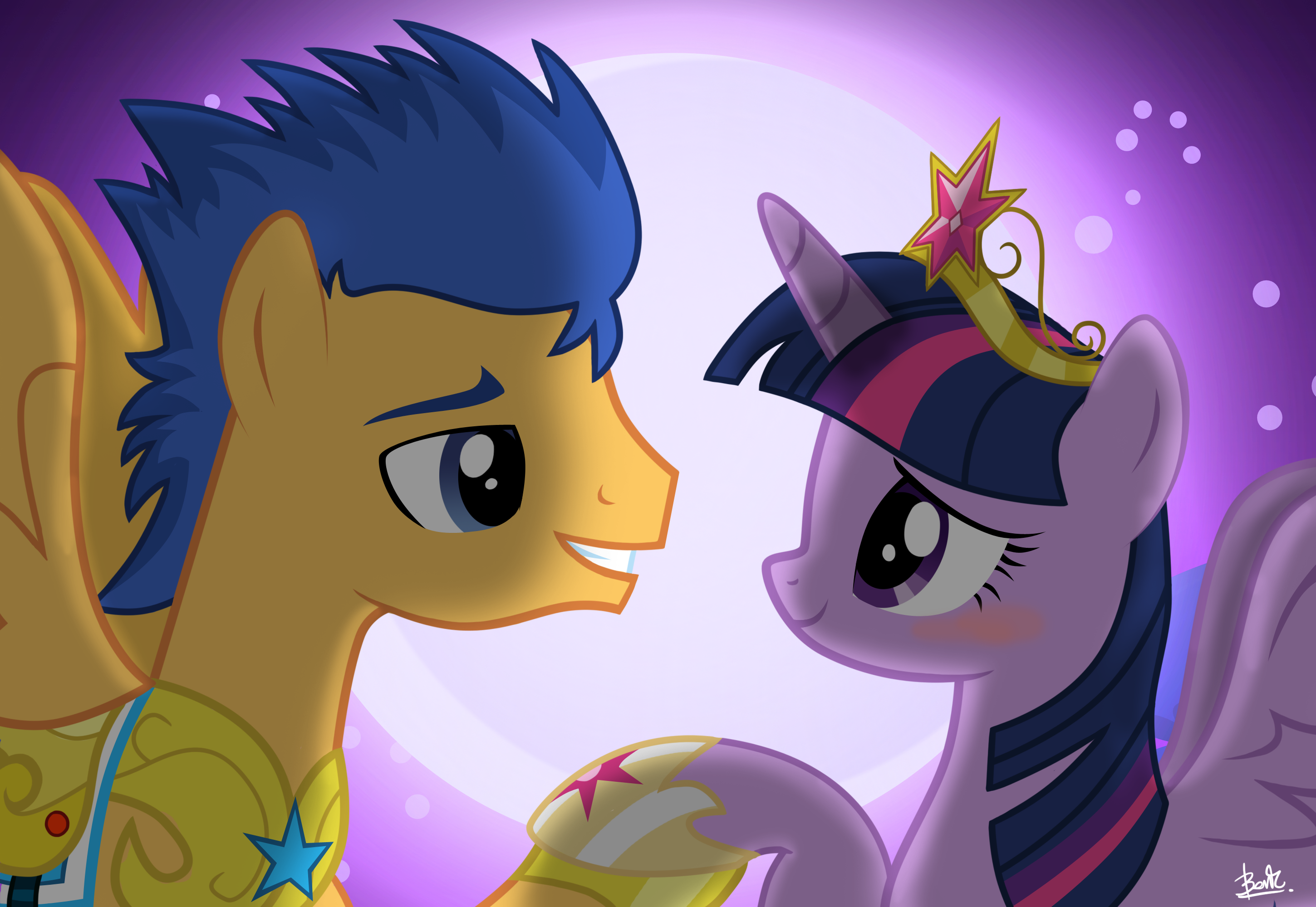 Image - Flash Sentry happy to see Twilight EG.png | My ... |My Little Pony Friendship Is Magic Twilight Sparkle And Flash Sentry