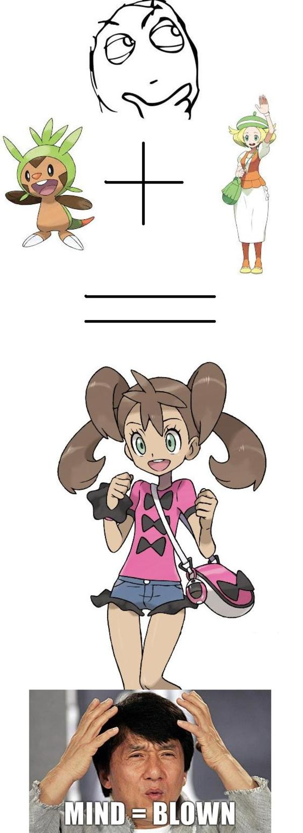 f86 shauna is actually bianca and a chespin?!? pokémon know your meme