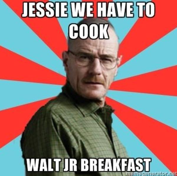 d82 walt jr loves breakfast know your meme