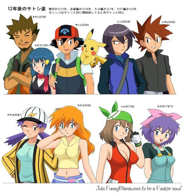 Pokemon And Y Anime Characters Names : What if pokemon characters actually aged pok�mon know