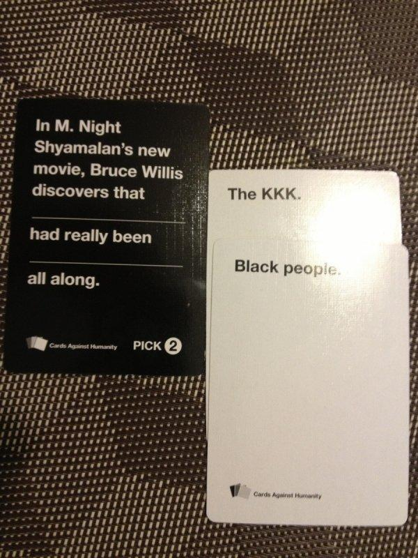 a88 what a twist! cards against humanity know your meme