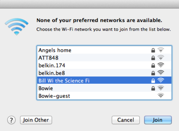 Funny Wifi Names: Bill Wi The Science Fi