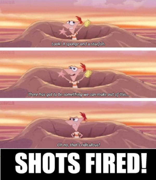 1a3 phineas and ferb shots fired shots fired know your meme