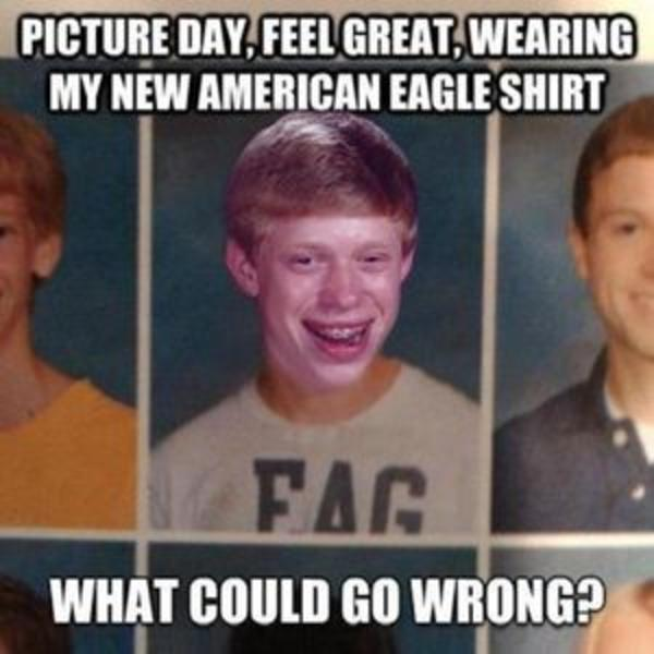 af4 first bad luck brian meme bad luck brian know your meme,Bad News Brian Meme