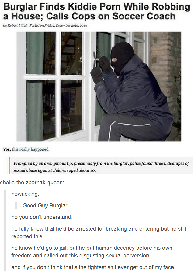good guy burglar faith in humanity restored know your meme