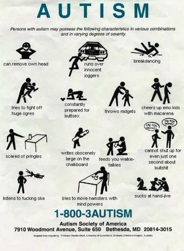 Parody Autism Help Chart Autism Know Your Meme