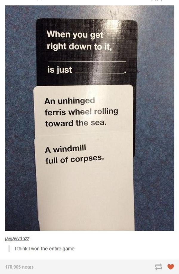 Funny Cards Against Humanity Meme : Ferris wheels cards against humanity know your meme
