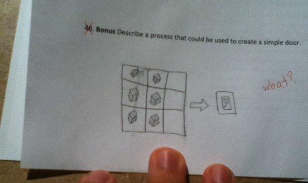 Funny Memes Minecraft : Minecraft door funny exam answers know your meme
