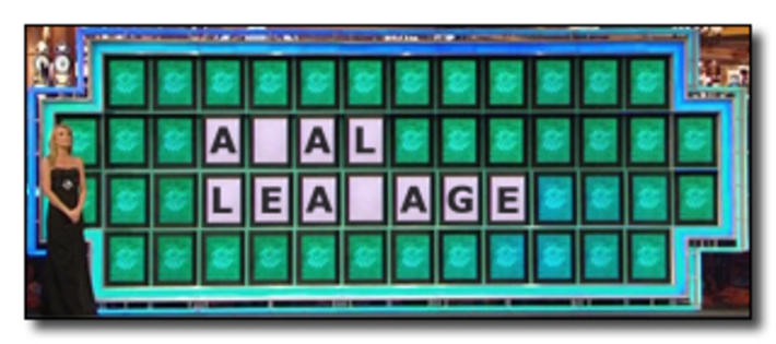 Leakage wheel of fortune puzzle board parodies know for Wheel of fortune board template