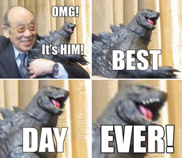 Funniest Meme Ever 2012 : Godzilla s best day evah ever know your meme