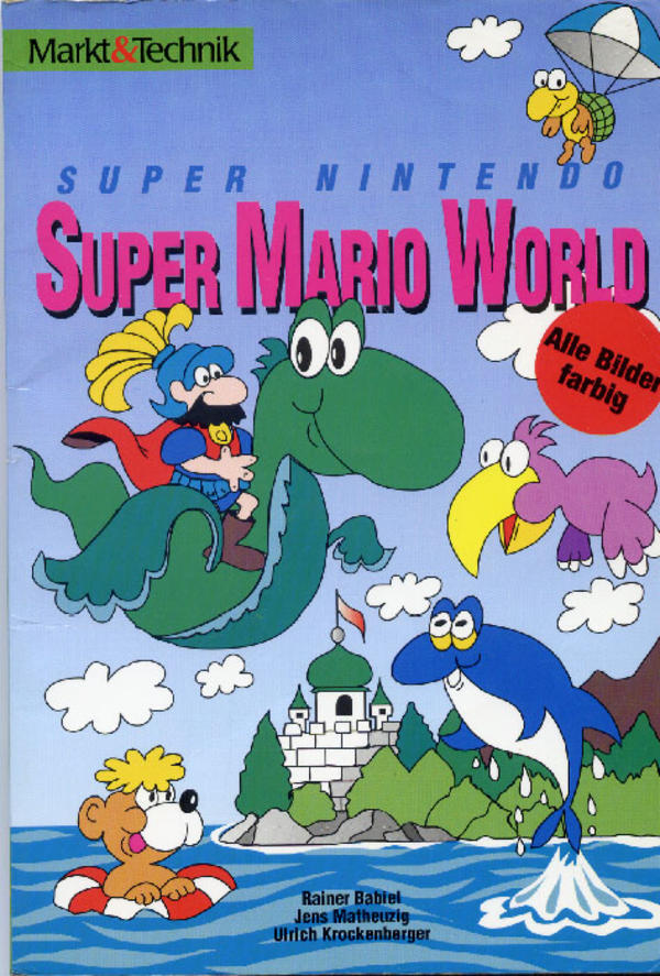Super Mario World German Strategy Guide Cover Super