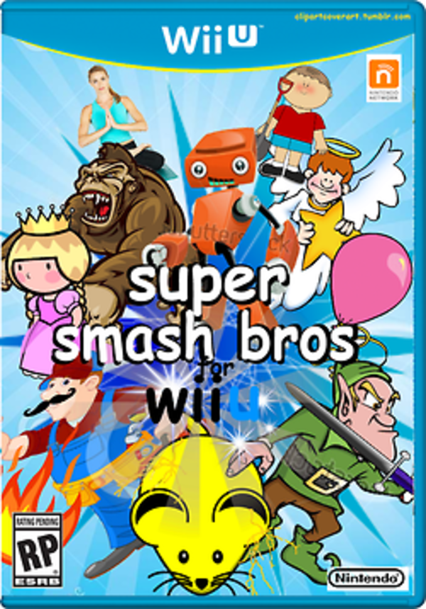 Super Smash Bros For Wii U Clip Art Covers Know Your Meme