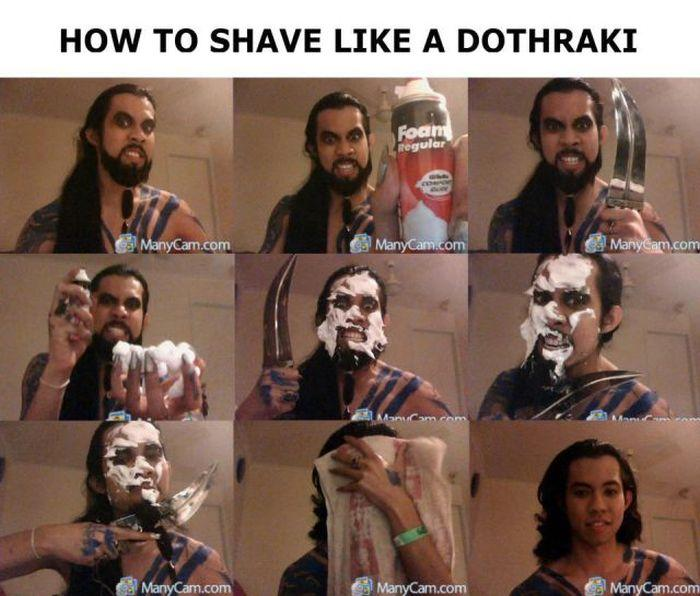 Shave like a dothraki beard shaving comic parodies know your meme