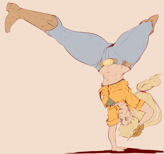 Human Applejack Handstand